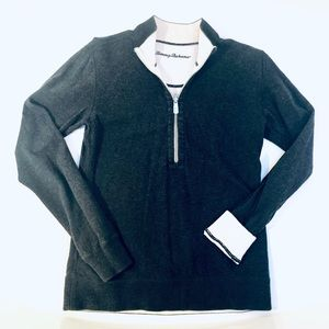 Tommy Bahama reversible Grey women Pullover